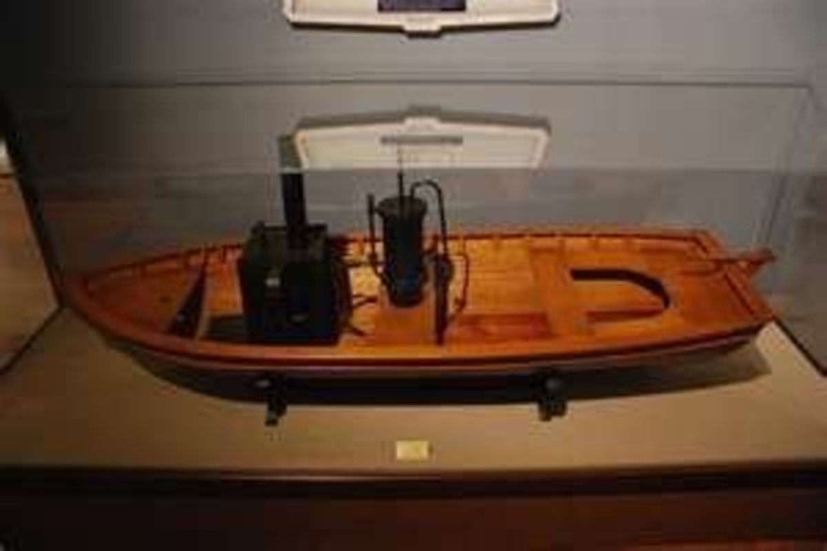 Model of James Rumsey's steamboat image credit: http://www.flickr.com/photos/bmpowell/3782412725/