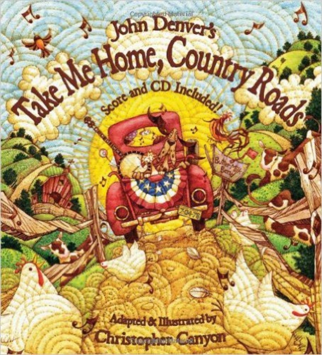 John Denver's Take Me Home, Country Roads (Audio CD Included) (The John Denver & Kids Series) by John Denver - Images are from amazon.com.