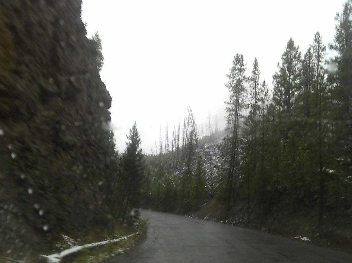 Firehole Canyon Drive along side Grand Loop Road and Firehole River. Drive safe!