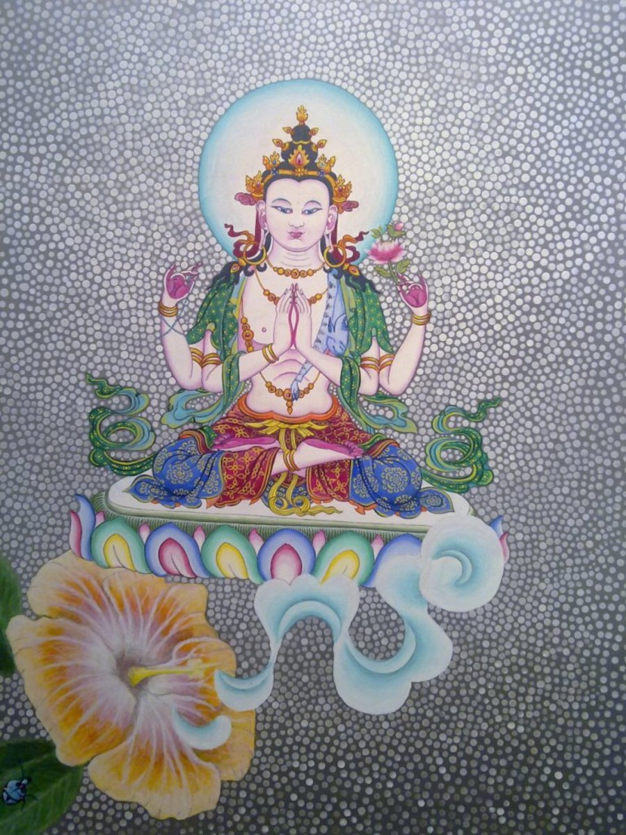 Nepali princess Brikuti is supposed to have preached about Buddhism for the first time in Tibet, in 6th century. Bhrikuti is worshiped as Green Tara in Tibetan Buddhism.