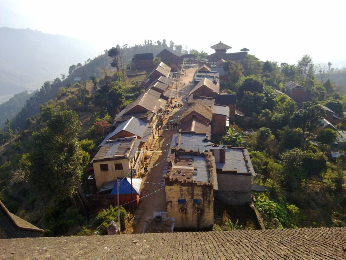 A typical village in Nepal