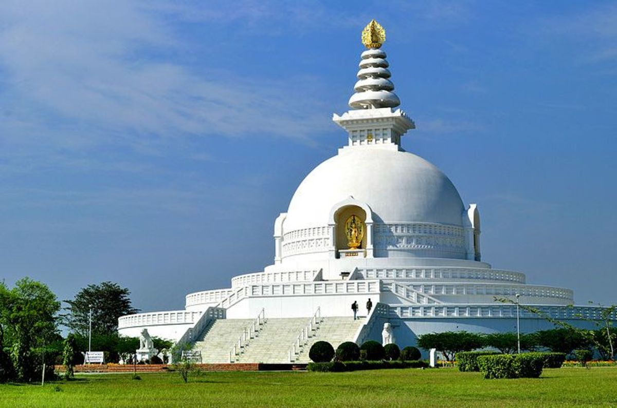 World Peace Monastery in Lumbini, Nepal, the birthplace of the Buddha