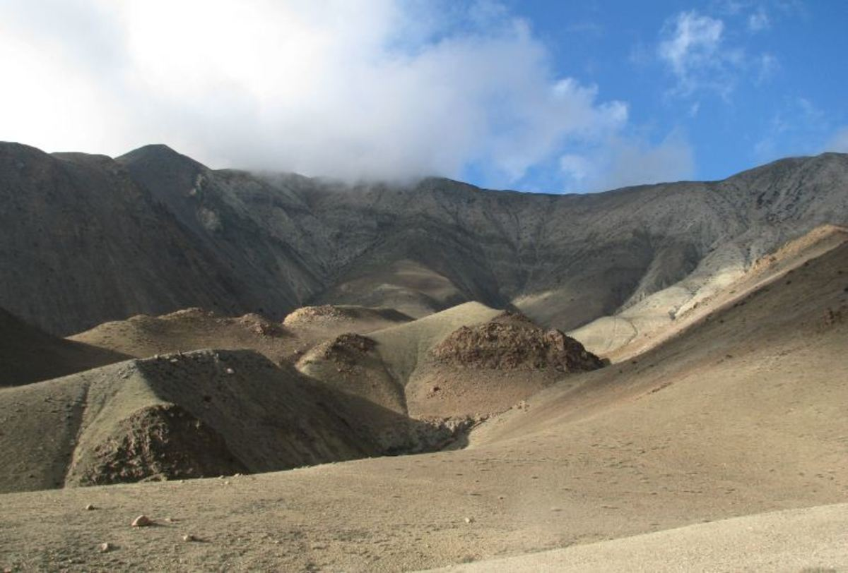 Sand dunes in Mustang: Mustang was closed to the foreigners until recently.