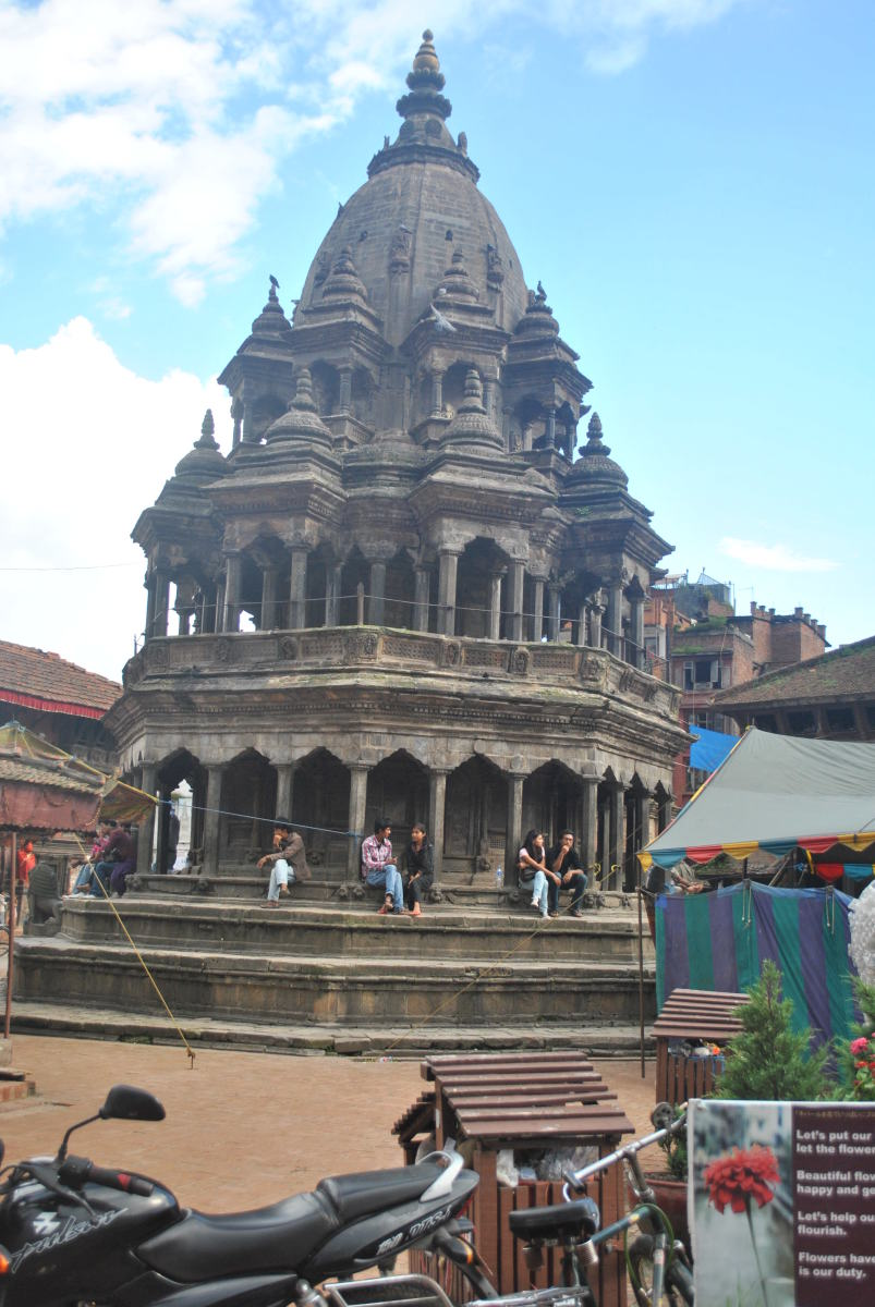 A medieval stone temple in Kathmandu