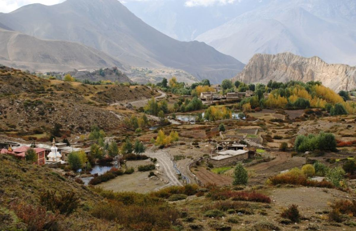 Jomsom is one of the popular trekking routes