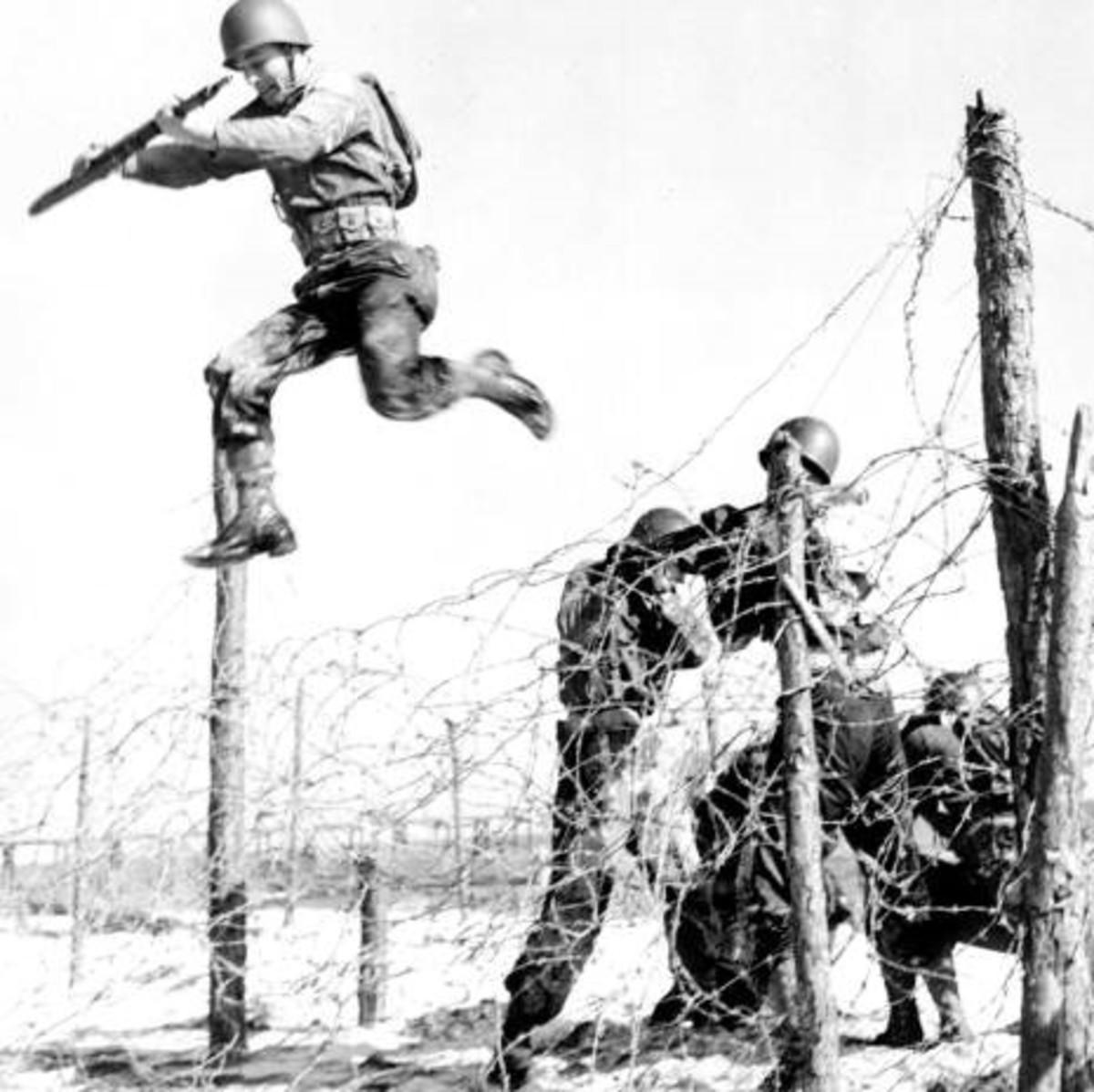 Training at Camp Gordon Johnston, Florida