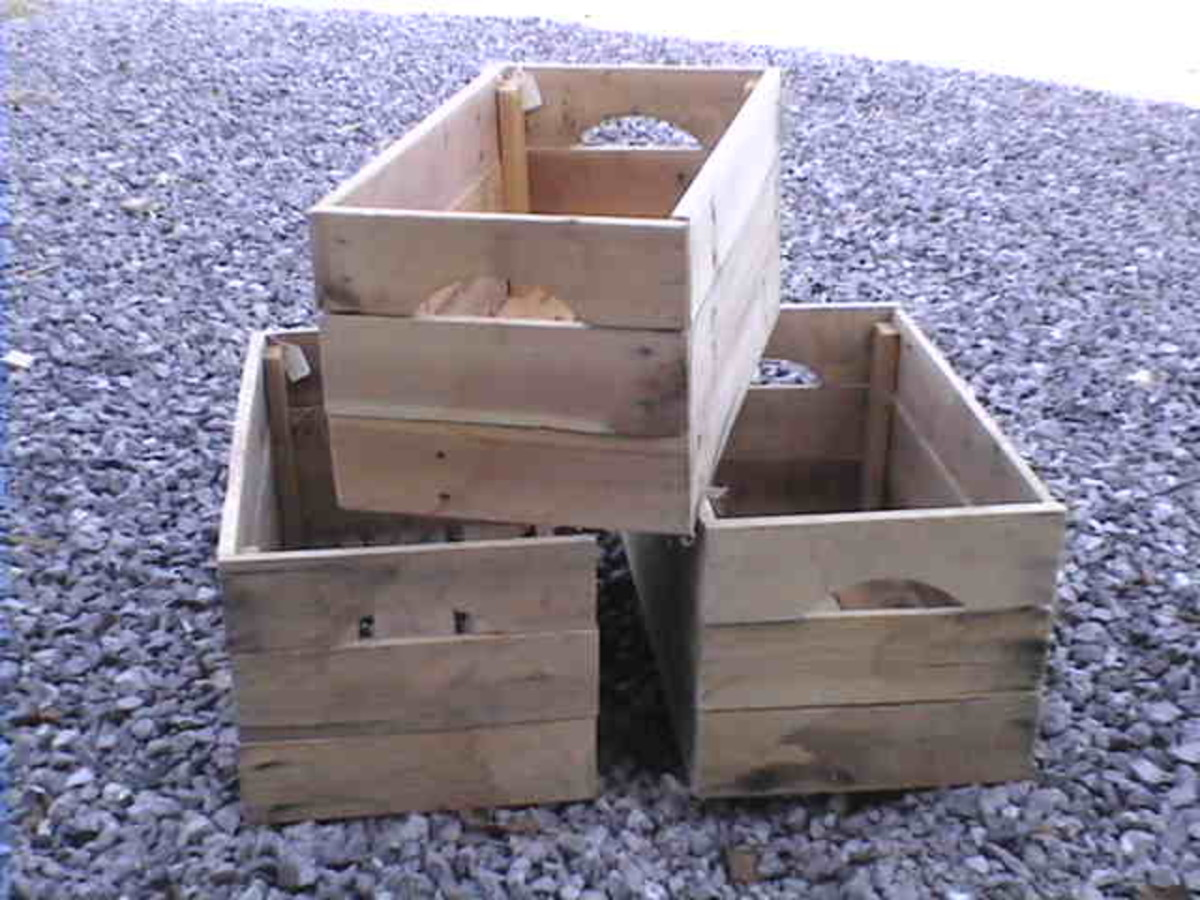 Do It Yourself Home Design: How To Make Apple Crates From Reclaimed Pallet Wood