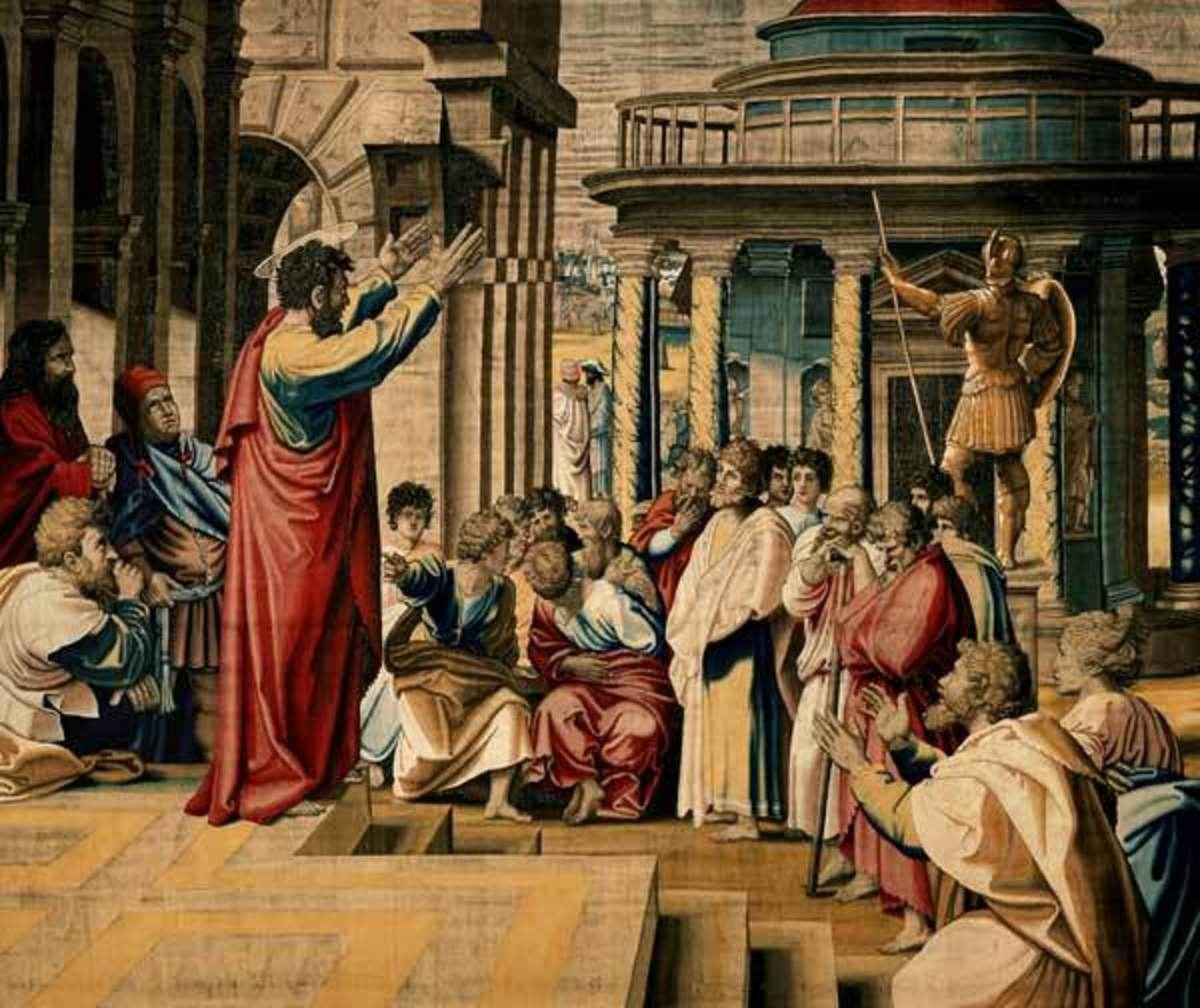 Paul instructing the philosophers in Athens