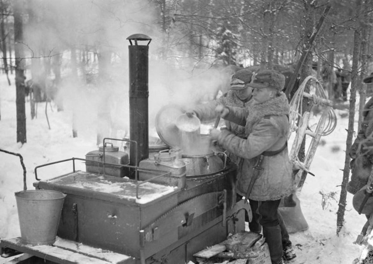 A typical field kitchen used in The Great War.