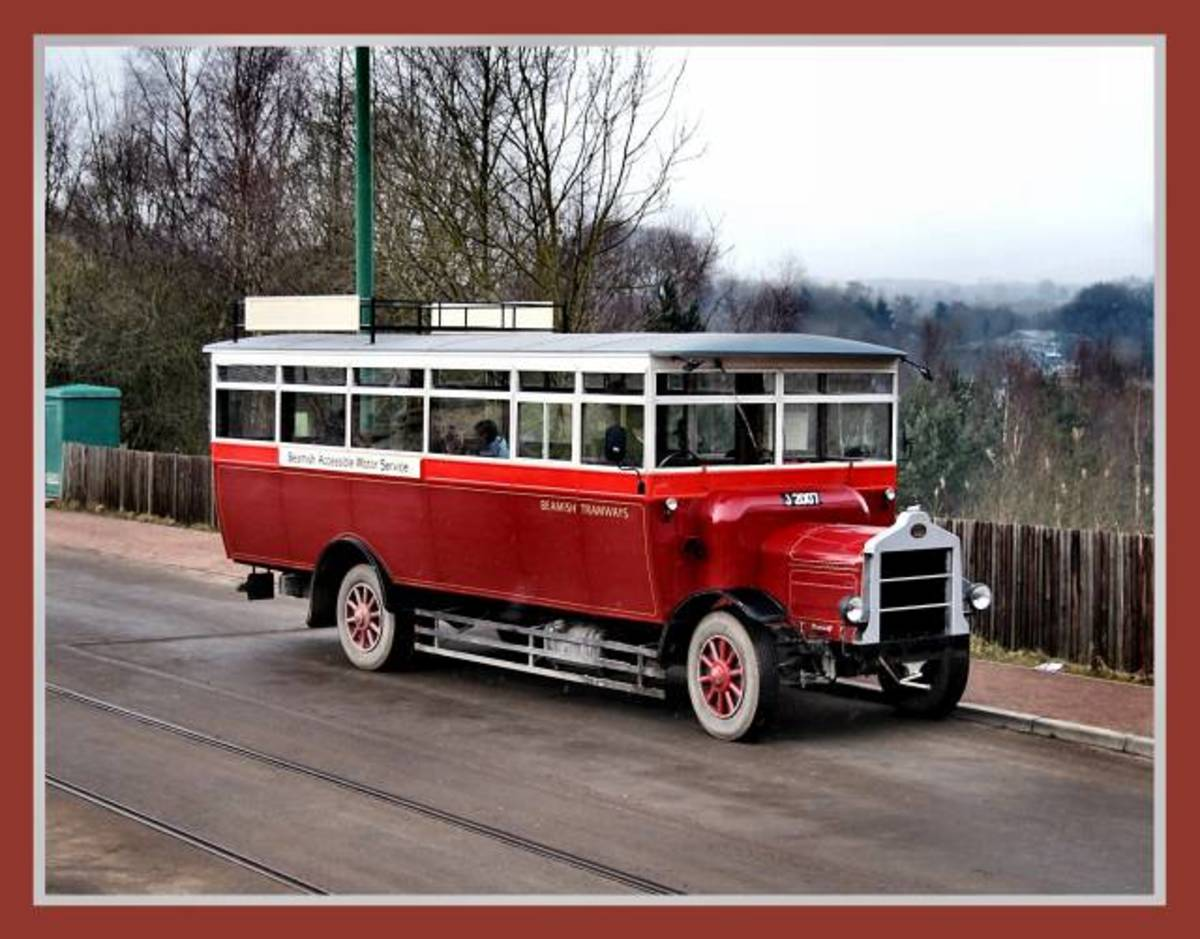 Barry Miller shot of an Edwardian (early 1900s) period single-decker omnibus
