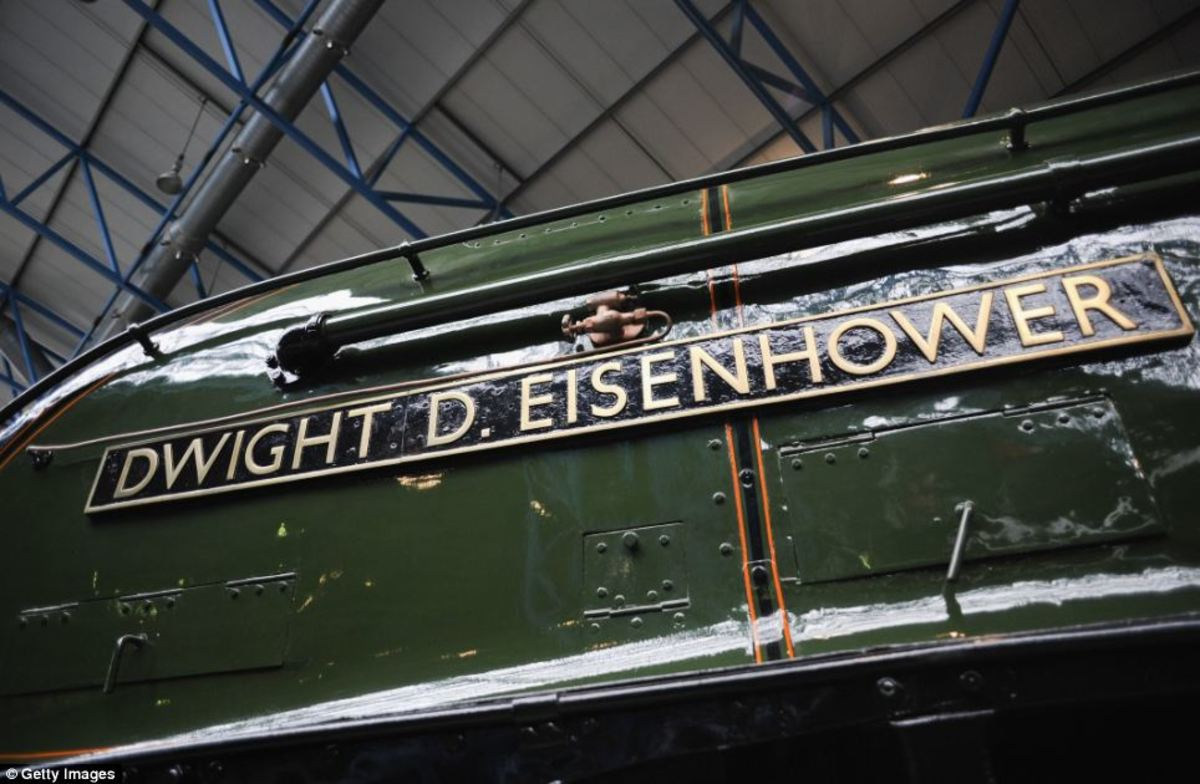 Nameplate on A4 'Dwight D Eisenhower', recently returned from the US for restoration along with 'Dominion of Canada' from the Canadian collection