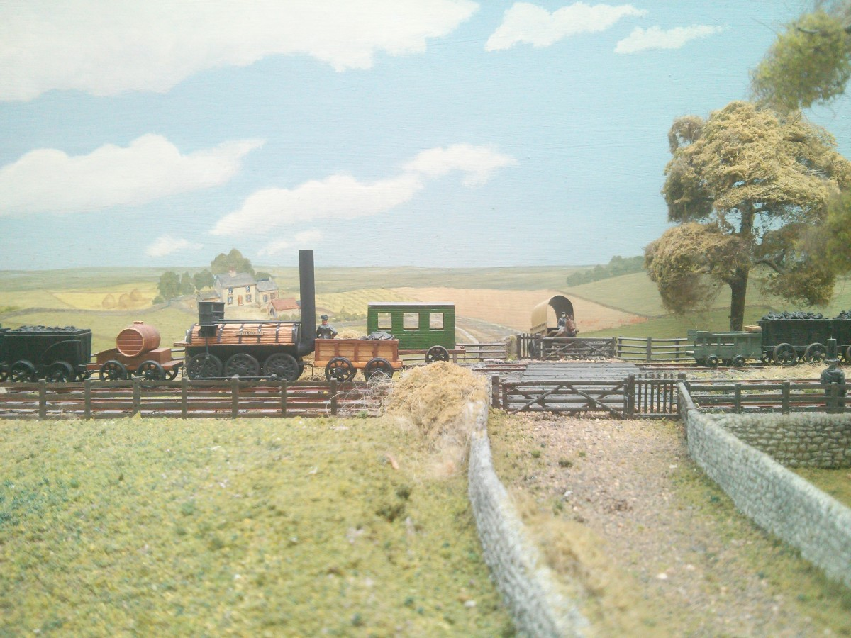A section of the S&DR model railway at the back of the museum - the model 'reaches' from Shildon Colliery in the west to Stockton Quayside in the east