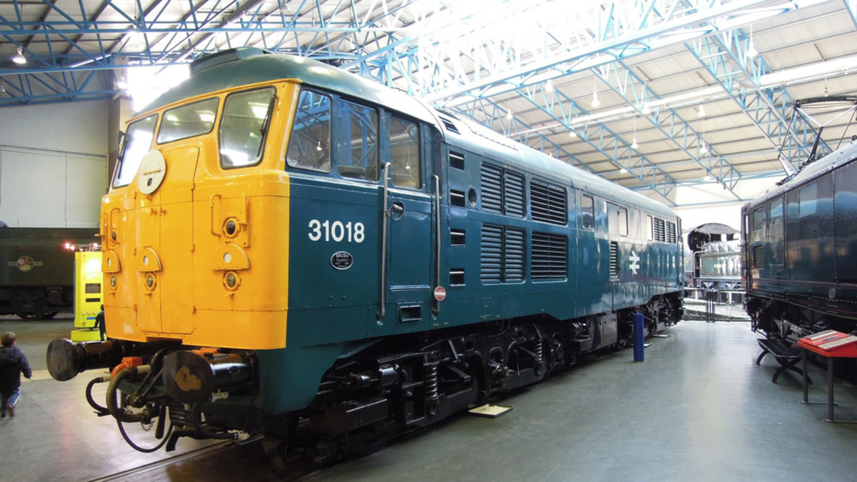 State of the art in the 60s and 70s, Class 31 British Rail diesel in the blue and dove grey livery applied 1967