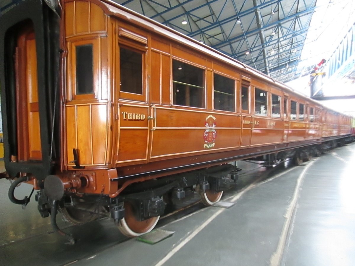 East Coast Joint Stock teak bodied corridor clerestory-roofed bogie carriage built York early in the 20th Century. Locomotives at this time were also heavier, Atlantics (4-4-2). From the 1920s they would be LNER Pacifics (4-6-2) like 'Flying Scotsman
