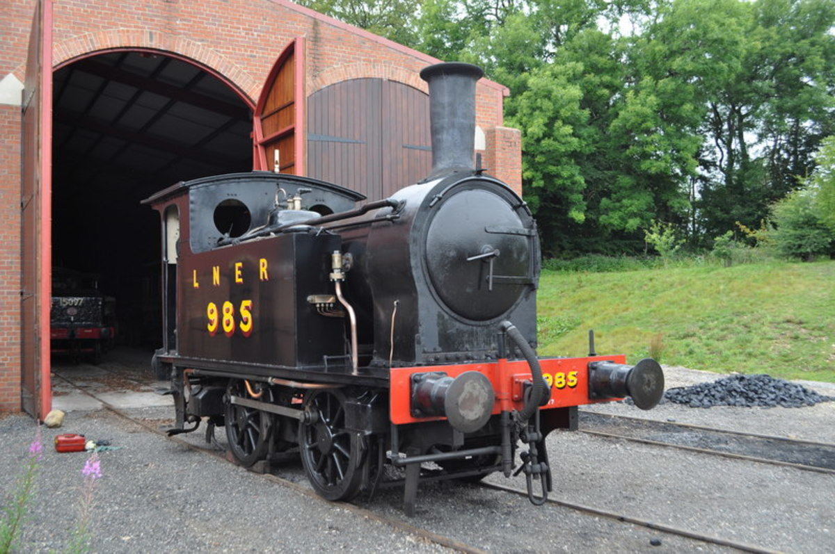 North Eastern Railway Wilson Worsdell Class H 0-4-0 at Beamish as Class Y7 985 in LNER livery