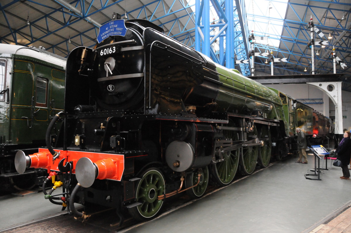 Just visiting - new-build Peppercorn LNER A1 60163 ' Tornado' at the NRM - constructed at Darlington near North Road Station ('Head of Steam') Museum. A P2 2-8-2 to Gresley design is to be built by the same people