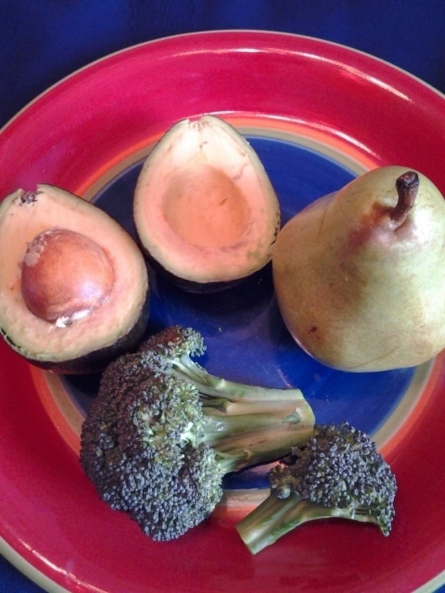 Avocado, Pear and Broccoli