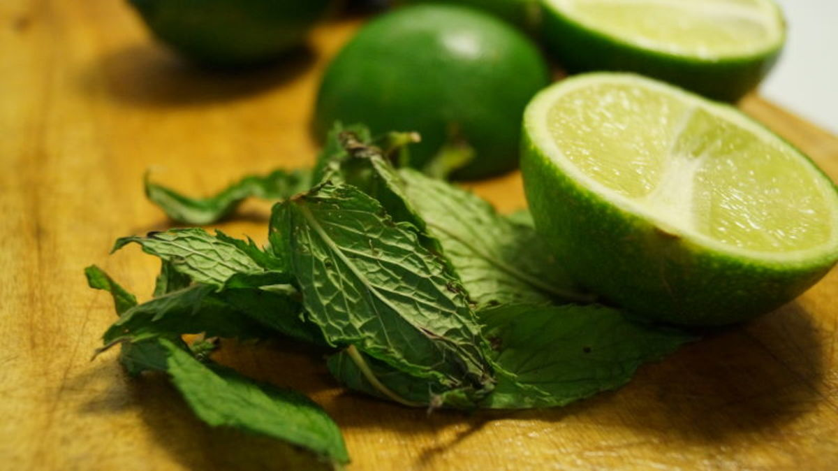 You'll need 4 fresh limes to make the lime juice and 15 minced mint leaves.