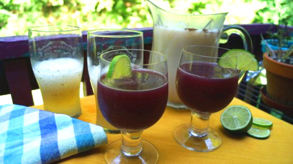 Horchata, sangria and mojitos on a summer day.