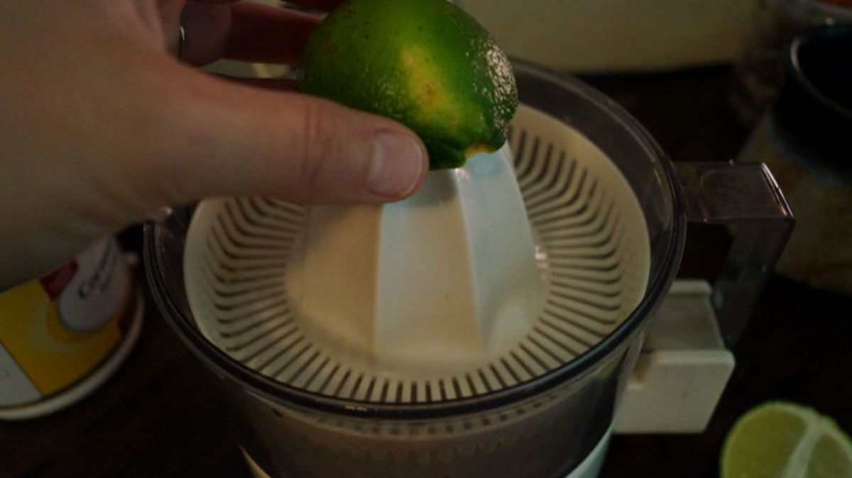 You'll need about 4 small limes to make 6 tablespoons of fresh lime juice.
