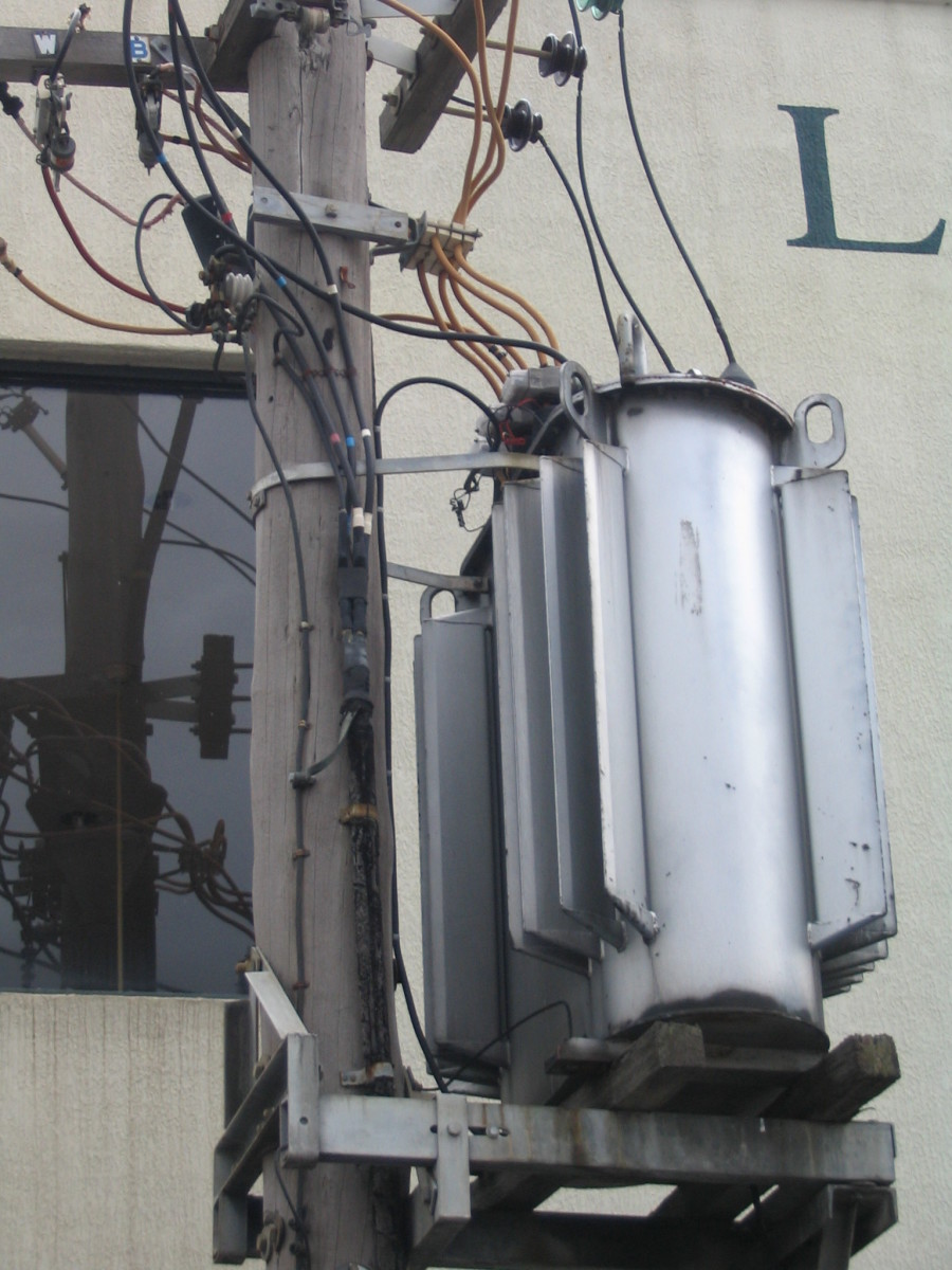 The smart grid regulates power delivered to transformers such as this one.
