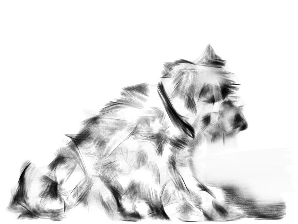 My mother ad sister's picture of favorite dog 'Archie'.  My favorite doggie.