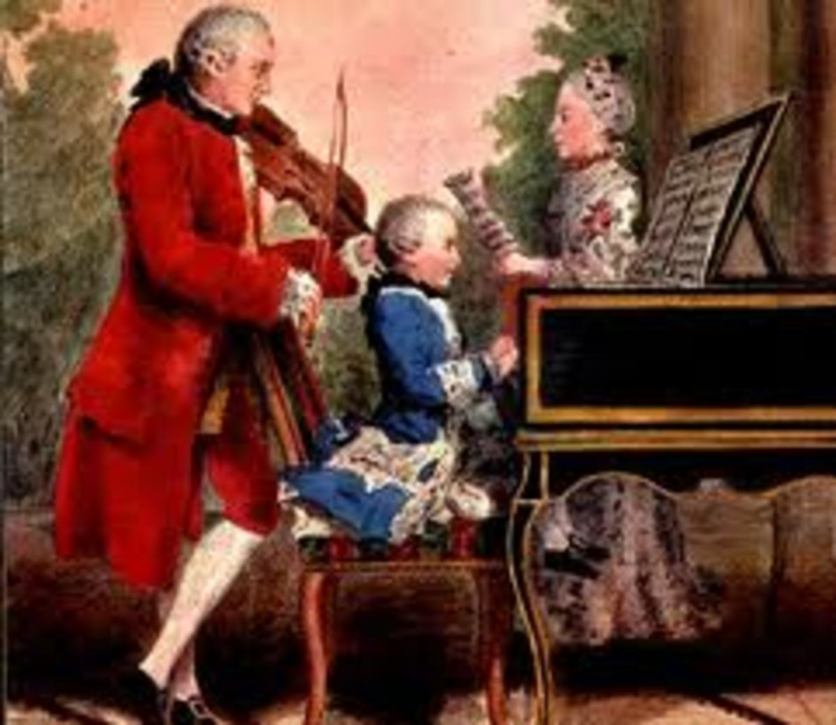 Mozart as a child with his father