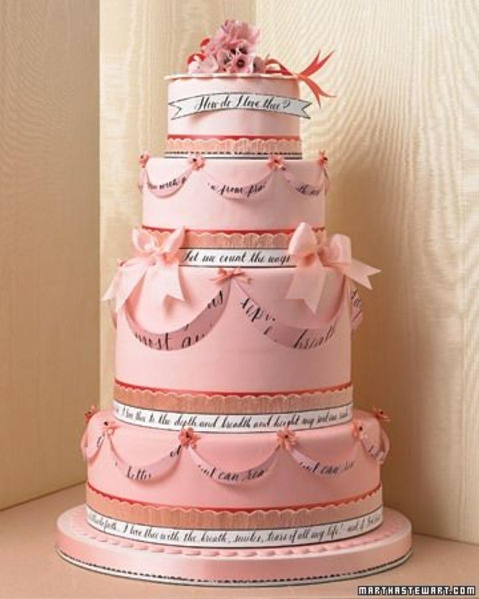 elegant pink wedding cakes