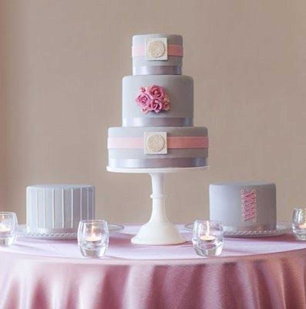 modern pink wedding cakes
