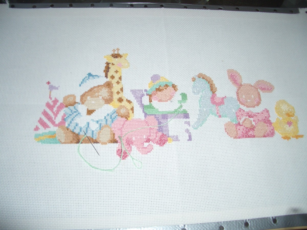 My Cross stitch Sampler picture