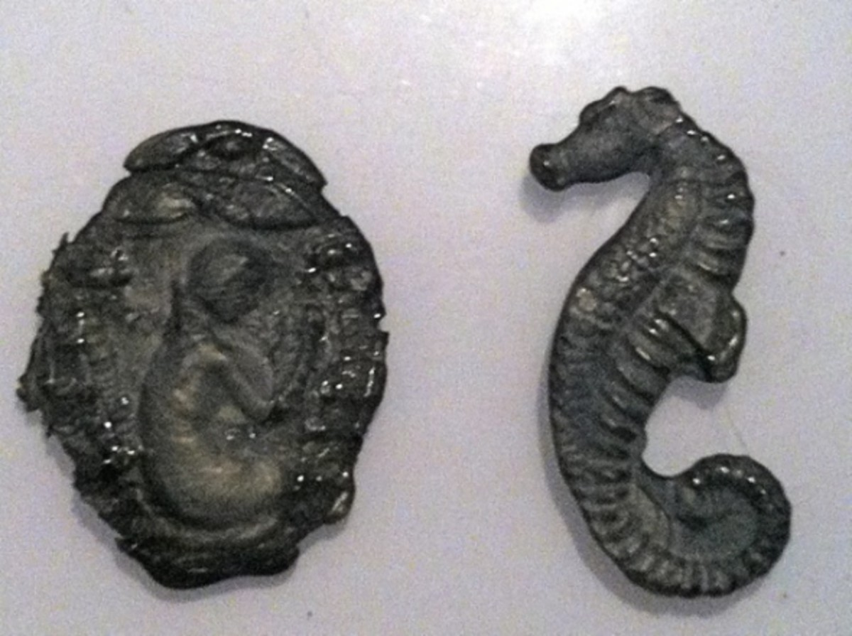 Mermaid and Seahorse - molds and UTEE