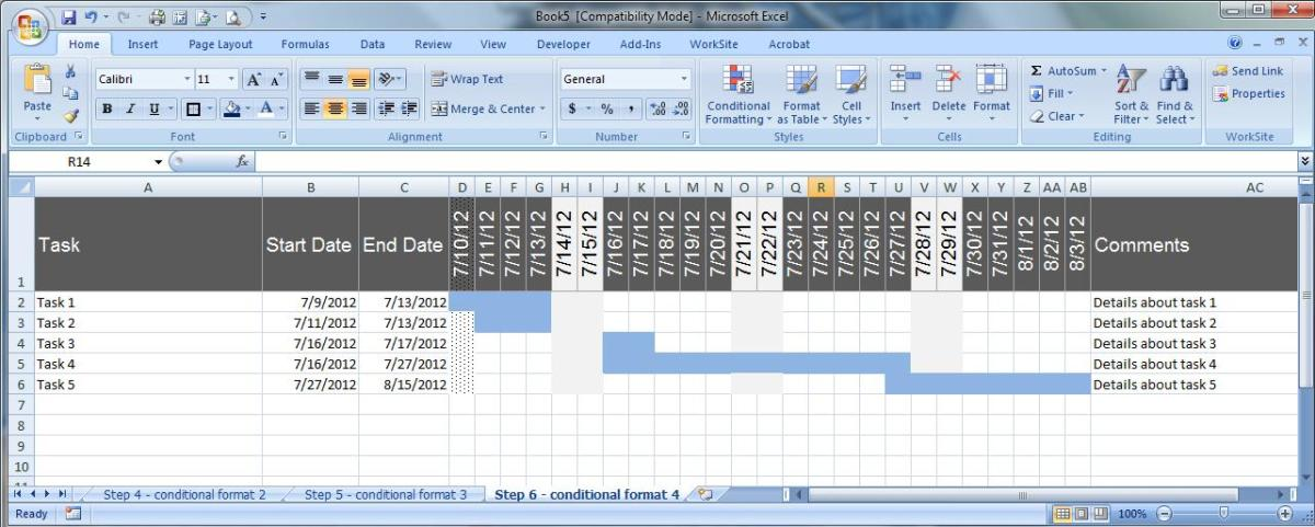 Creating an Excel Schedule Template