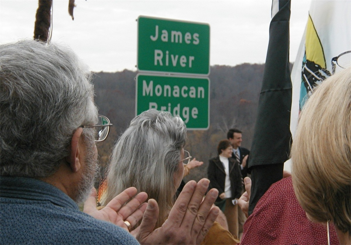 Unveiling Ceremony of the Monacan Bridge sign