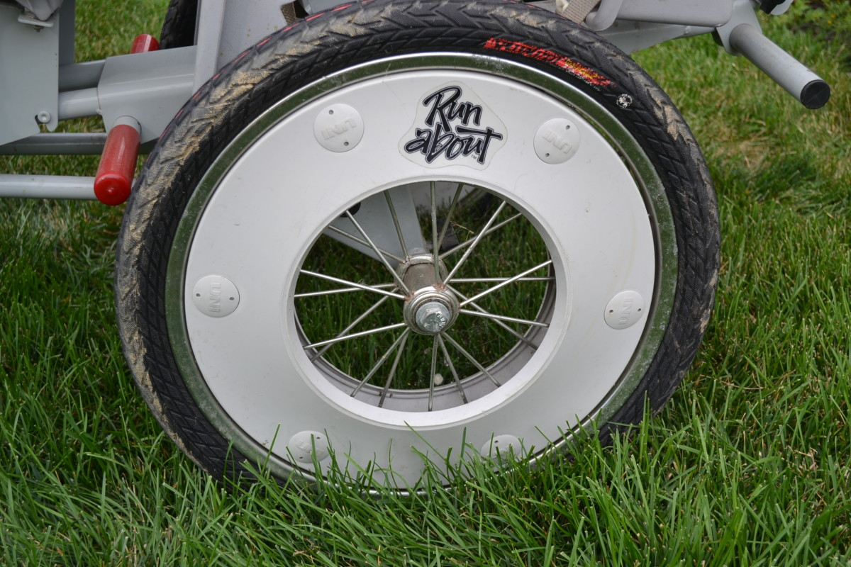 Bicycle sized tires on the Quad Runabout