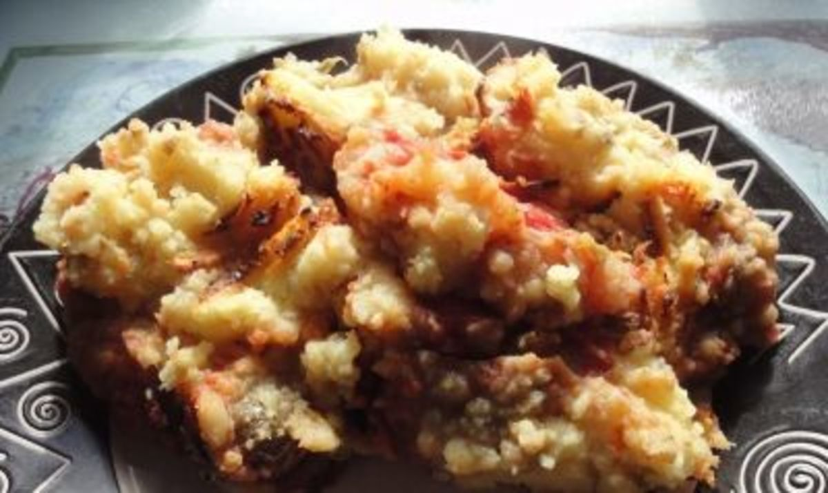 Mashed potato and veg pie