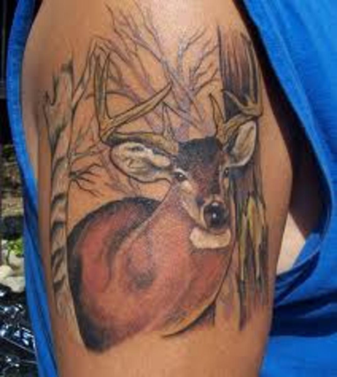 Deer Tattoos And Meanings-Deer Skull Tattoos And Meanings-Deer Tattoo Ideas And Pictures