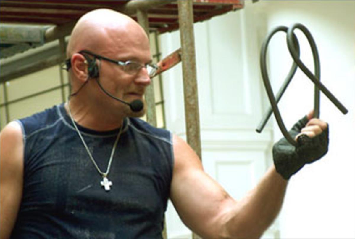 Dennis can bend metal like the Hulk