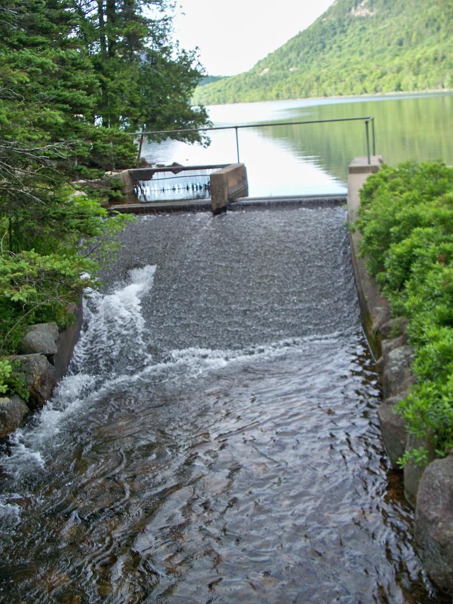Jordan Pond Spillway