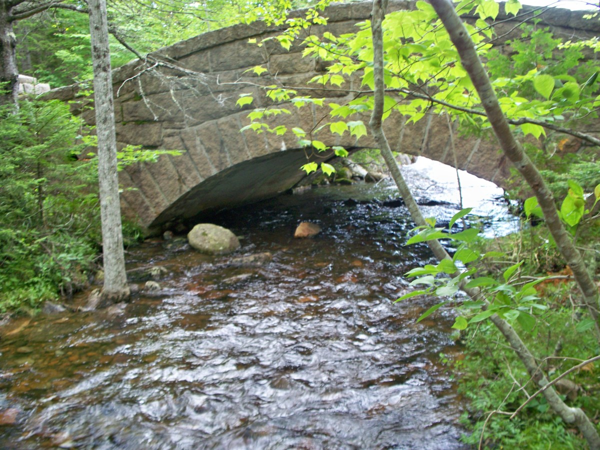 Bridge near Jordan Pond