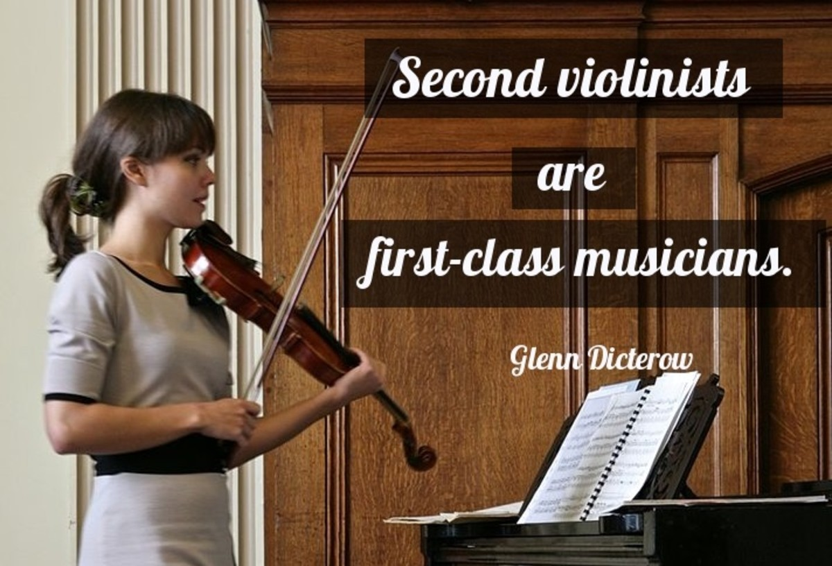 Second violinists are first-class musicians.