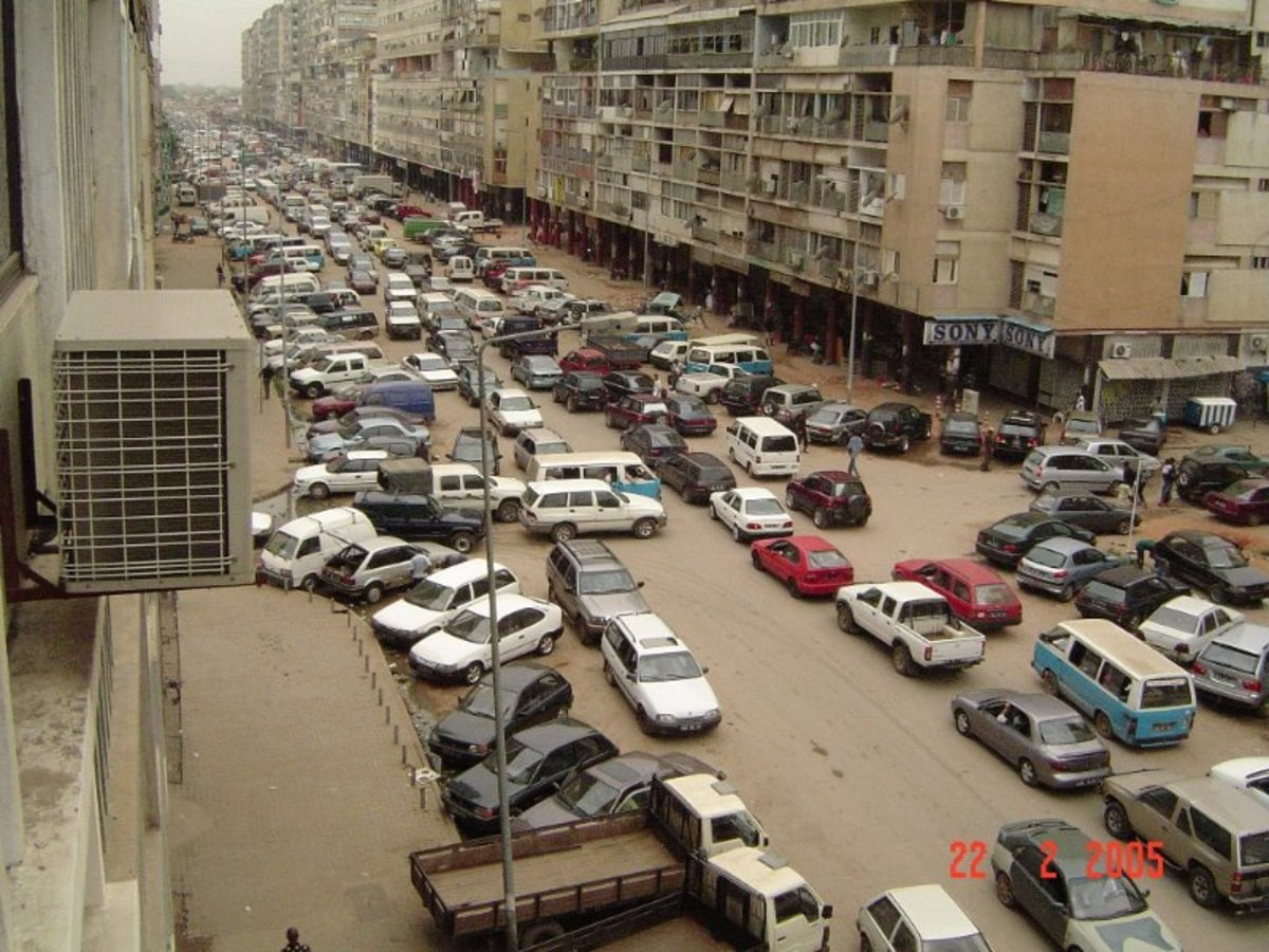Traffic jams are a big problem in Angola's capital, Luanda