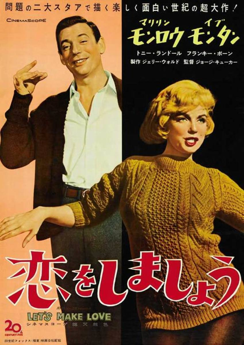 Let's Make Love (1960) Japanese poster
