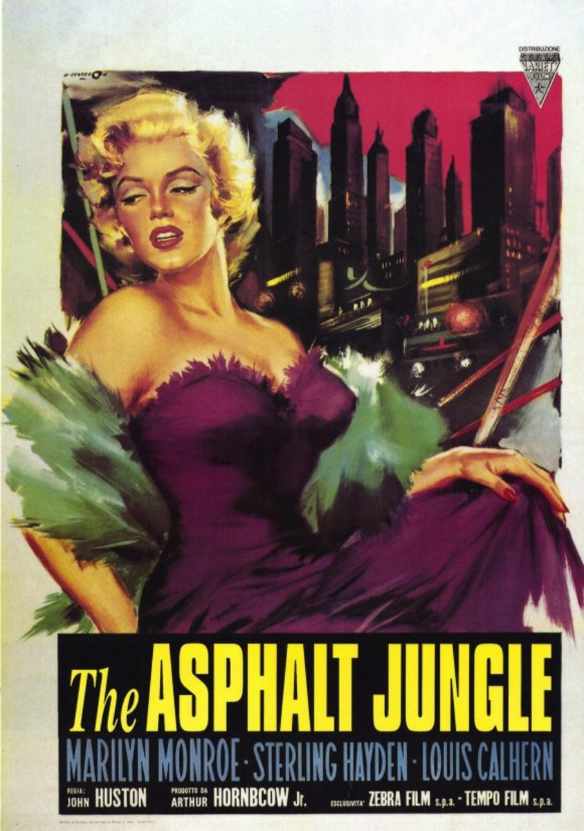 The Asphalt Jungle (1950) Italian poster