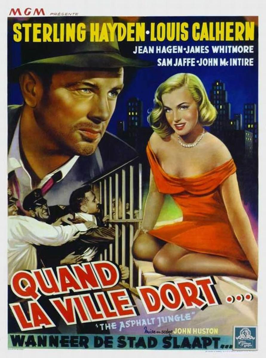 The Asphalt Jungle (1950) Belgian poster