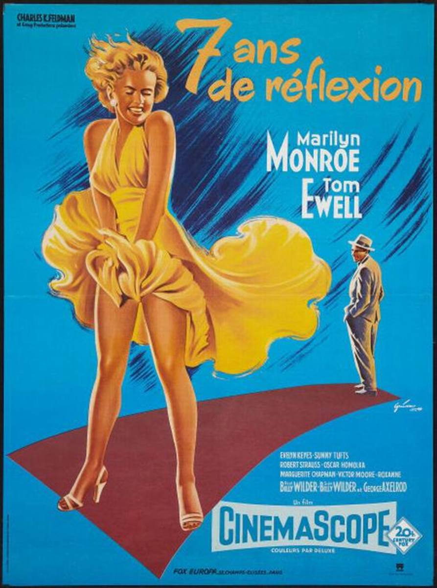 The Seven Year Itch (1955) French poster