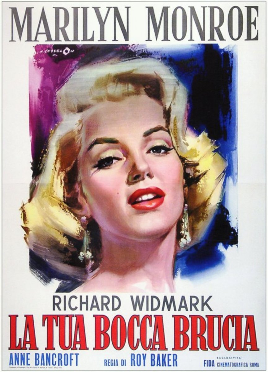 Don't Bother to Knock (1952) Italian poster