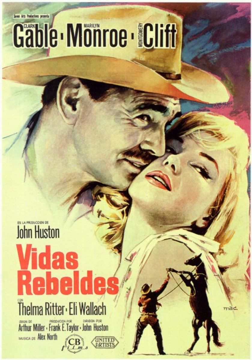 The Misfits (1961) Spanish poster