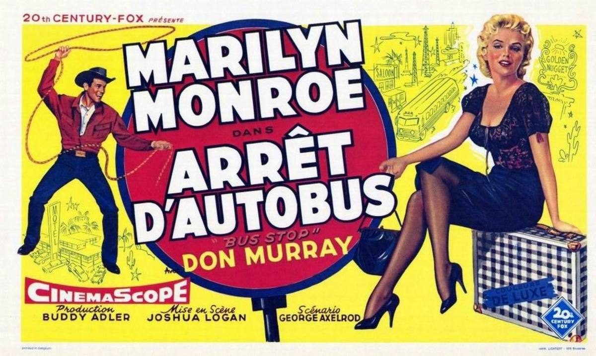 Bus Stop (1956) Belgian poster