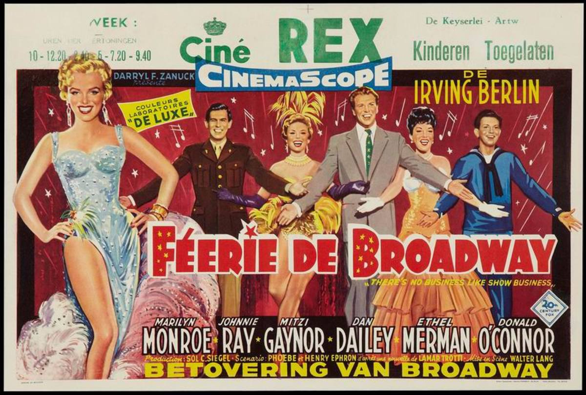 There's No Business Like Show Business (1954) Belgian poster