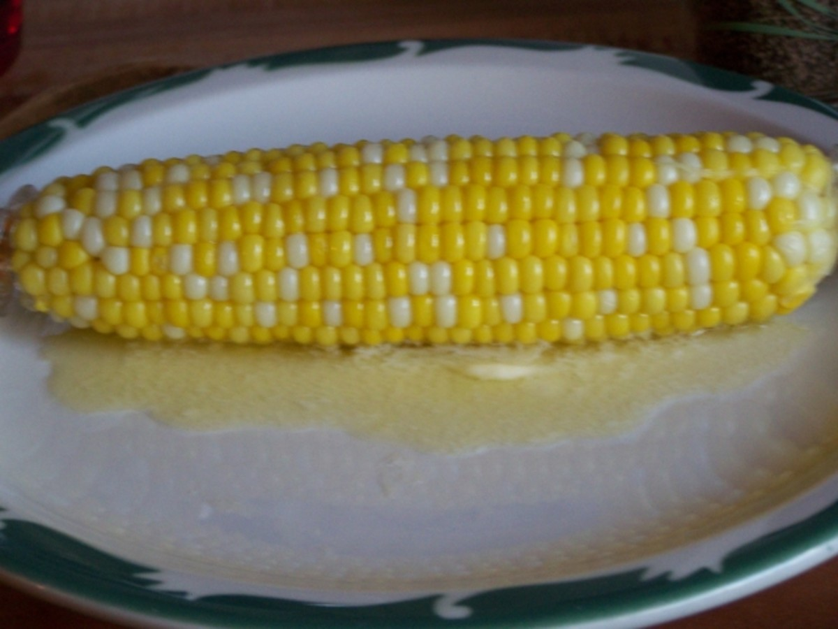 Cooked Corn On The Cob.